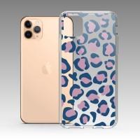 卡其藍豹紋 iPhone 耐衝擊防摔保護殼 贈送胸章或蝴蝶結緞帶