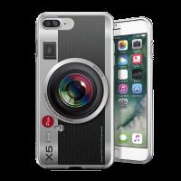 經典銀色相機 iPhone 耐衝擊防摔保護殼 贈送胸章或蝴蝶結緞帶
