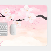 粉紫花 電競滑鼠墊 餐墊