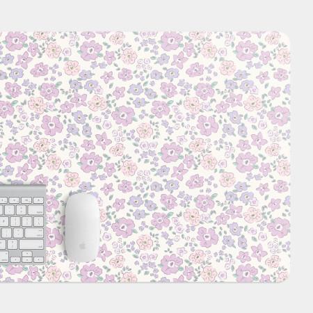 粉紫小碎花 電競滑鼠墊 餐墊