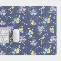 藍紫小花 電競滑鼠墊 餐墊