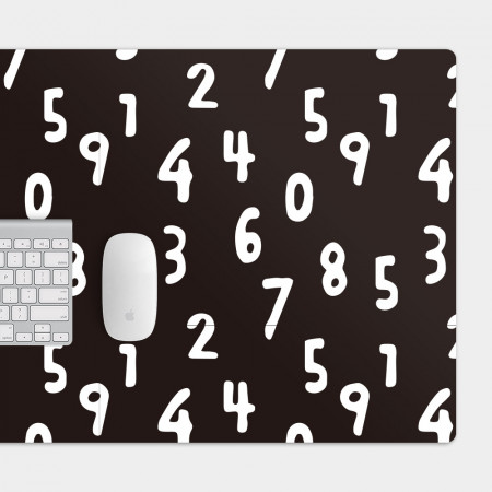 手繪數字 電競滑鼠墊 餐墊