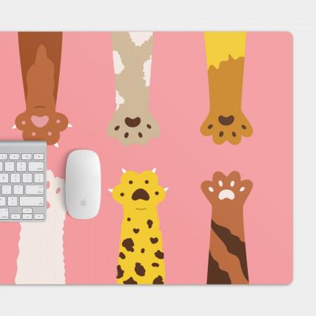貓腳 貓足 電競滑鼠墊 餐墊