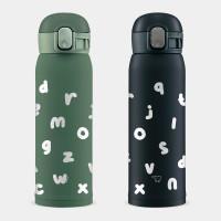 英文字母 象印 One Touch 彈蓋運動水瓶