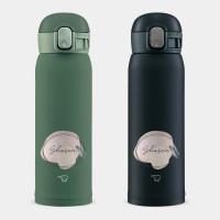 客製化文字(英文名) 象印 One Touch 彈蓋運動水瓶