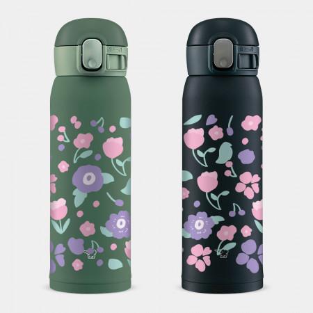 [PUPU] 粉紫花 象印 One Touch 彈蓋運動水瓶