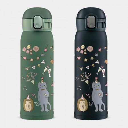 [PUPU] 動物生日派對 象印 One Touch 彈蓋運動水瓶
