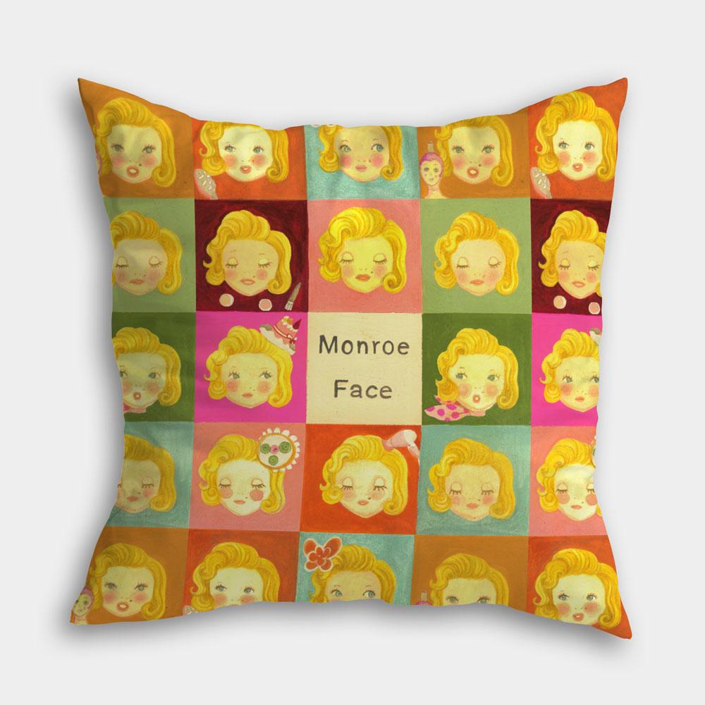 瑪麗蓮夢露 插畫抱枕,雙面滿版印刷,質感滿分!