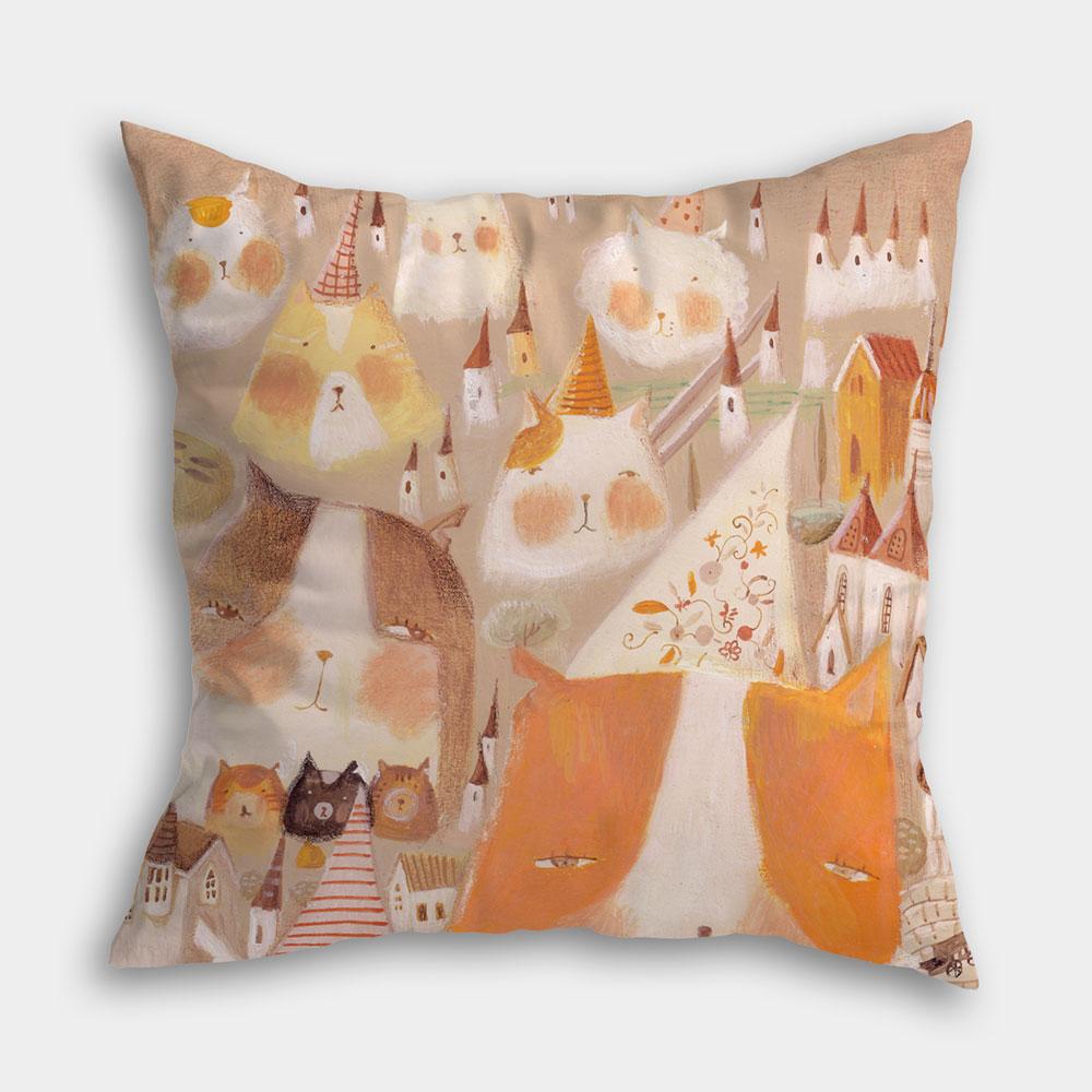 [南君] 流浪貓 超人氣插畫抱枕,滿版雙面印刷