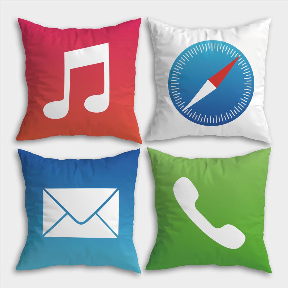 ICON 滿版雙面印刷客製化抱枕