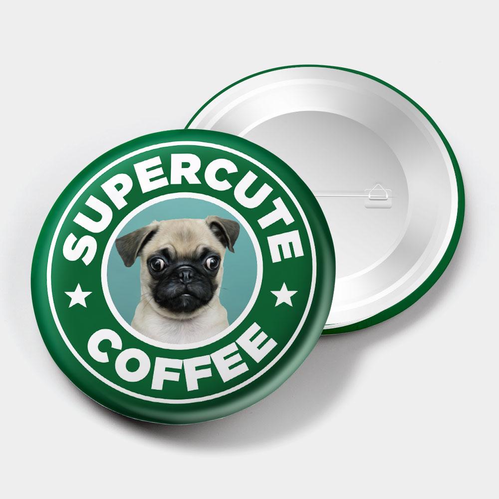 [OTAKU] SuperCute Coffee 44mm 胸章
