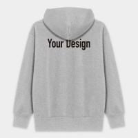 客製化中性刷毛連帽拉鏈外套 黑灰白三色