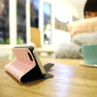 Galaxy S3 翻蓋式皮套 粉紅圓點
