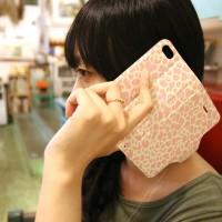 Galaxy S3 翻蓋式皮套 米黃豹紋