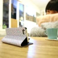 Galaxy Note 2 翻蓋式皮套 粉紫豹紋