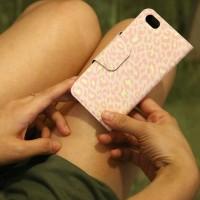 Galaxy S3 翻蓋式皮套 粉紅豹紋
