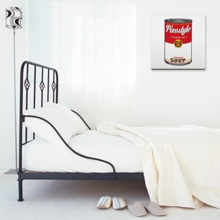 創意無框畫:貓咪罐頭