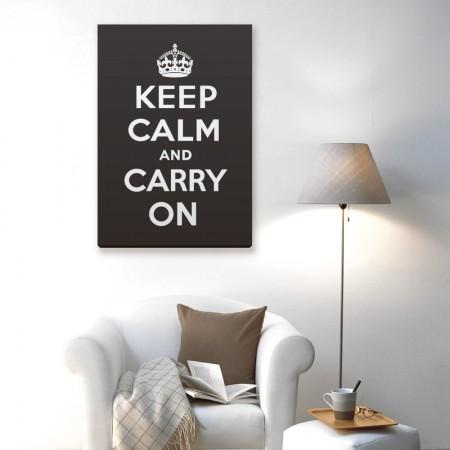 創意無框畫:Keep Calm and Carry On