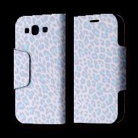 Galaxy S3 翻蓋式皮套 粉紫豹紋