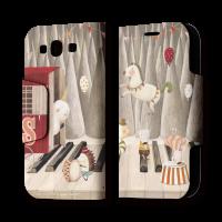 南君  Galaxy S3 翻蓋式皮套 冬季遊樂園