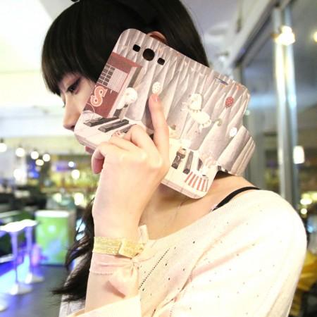 [南君] Galaxy S3 翻蓋式皮套 冬季遊樂園