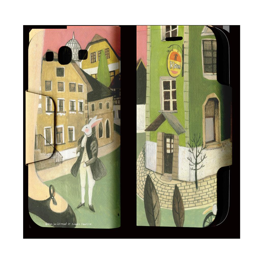 Galaxy S3 翻蓋式皮套 不同步調